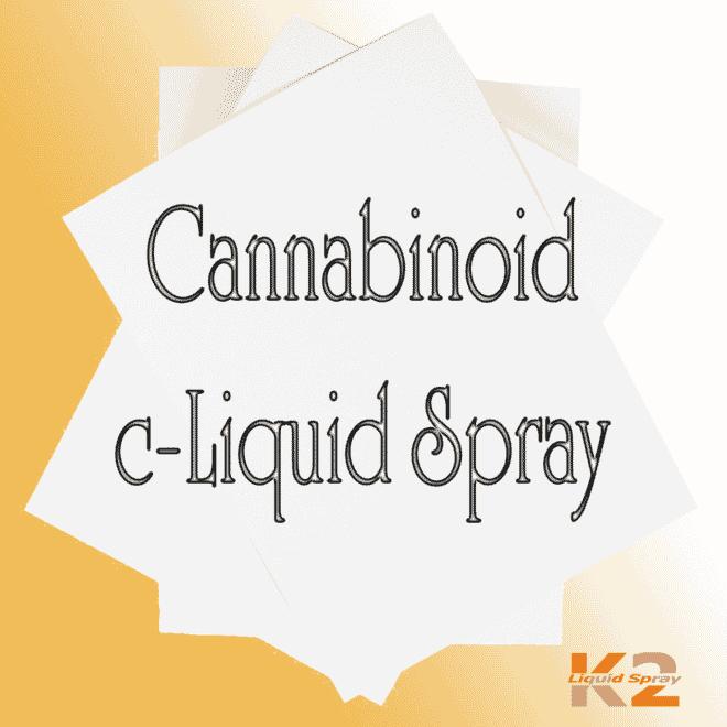 Cannabinoid c-Liquid spray on paper